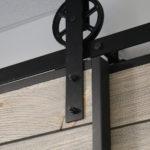 Goldberg Brothers now makes wagon wheel barn door hardware and barn door edge wrap kits.