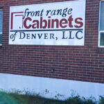 metal outdoor sign custome made for Front Range Cabinets of Denver, LLC