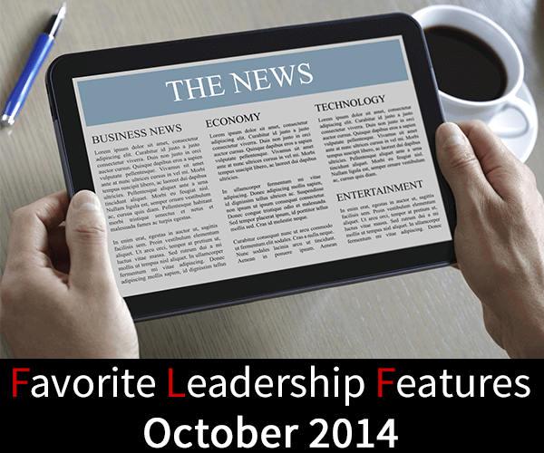 Favorite Leadership Features – October 2014