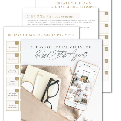 30 Days of Social Media Prompts for Real Estate Agents