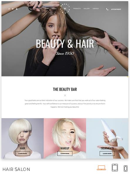 Beauty Salon Website Theme
