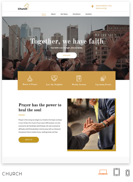 Church Website Theme