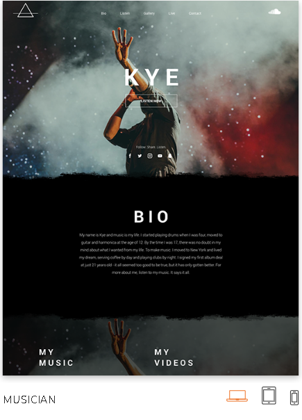 Musician Website Template