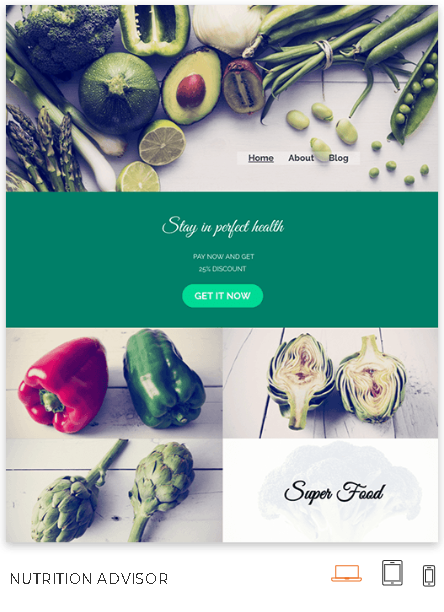 Nutritionist Website Theme