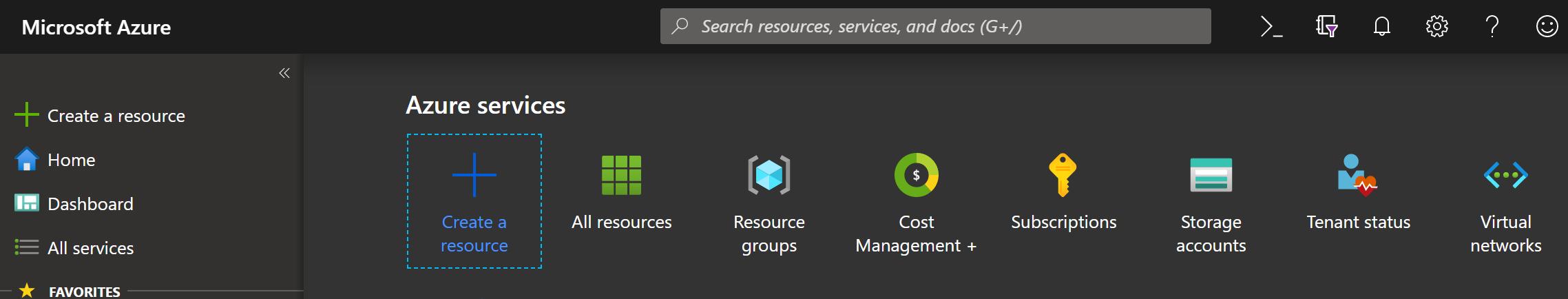 Azure Create a Resource