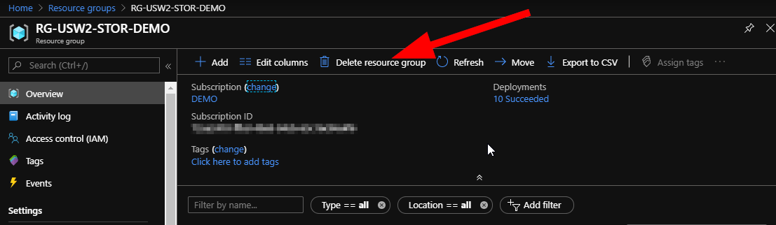 Cleanup of Azure Resources