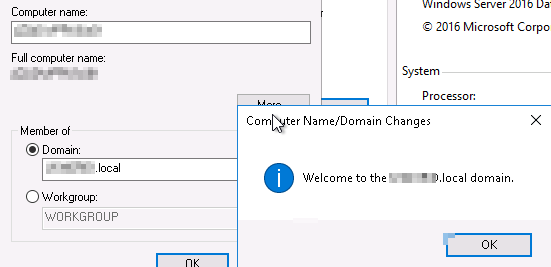 Join a Windows Server Active Directory Domain