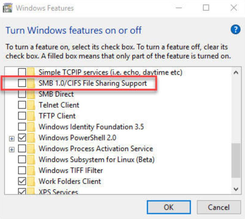 Windows Server on Azure - SMBv1