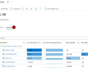 Azure Storage Usage Summary