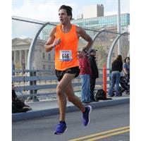 Paul V running in a marathon road race
