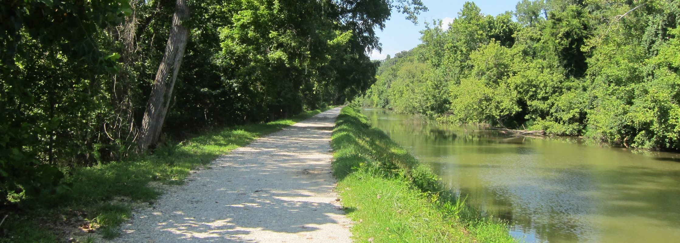 The C&O Towpath and Canal Looking West
