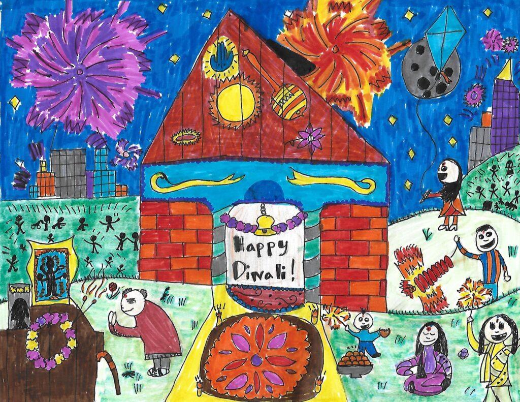 Diwali Drawing - Kavin Puri - Puri Thenrengan