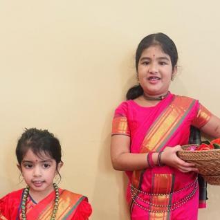 Varshika & Nila as 'Village Girls'