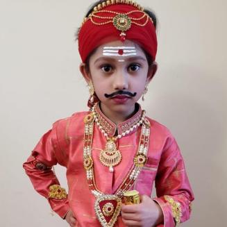 Aaruhi Ramachandiriya as 'Veerapandiya Kattaboomman'