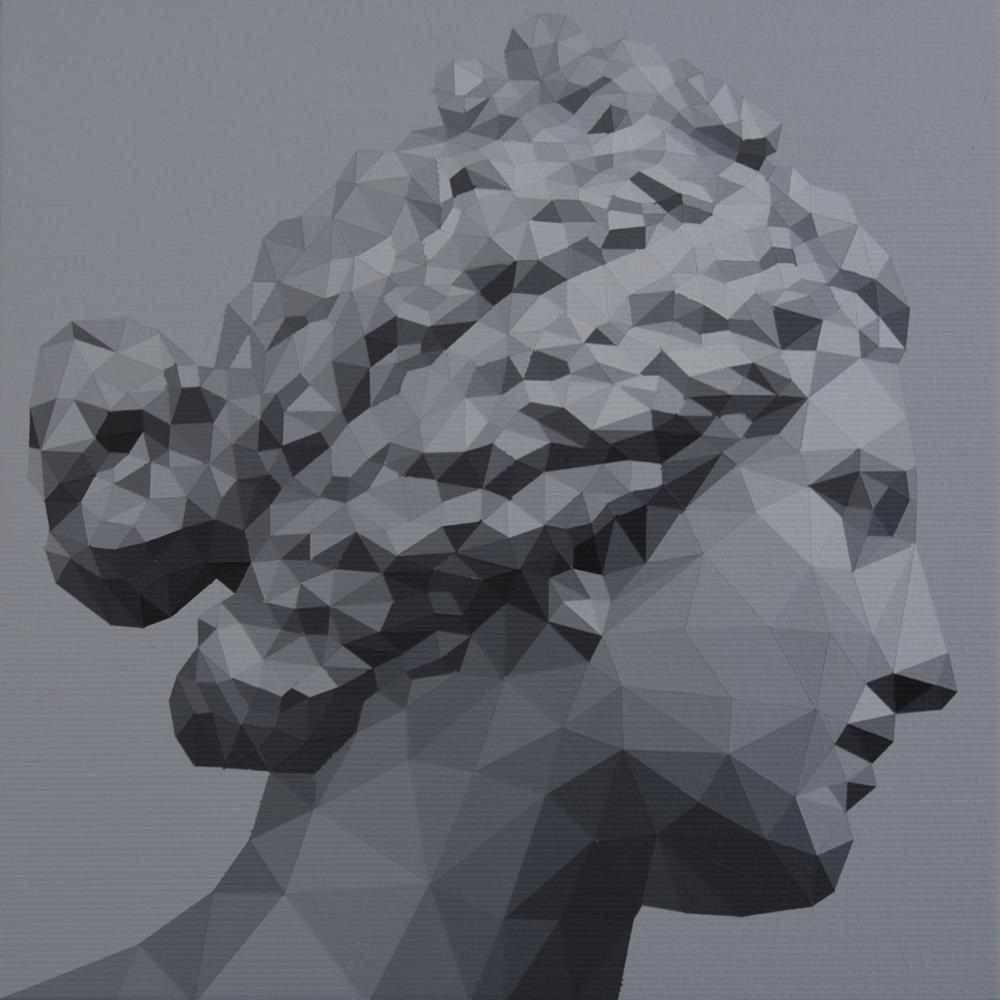 Gareth Morgan The Medici Aphrodite, 2018 20 x 20cm acrylic on canvas