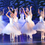RMDT Ballerinas on pointe during Snow Dance in 2015 Nutcracker