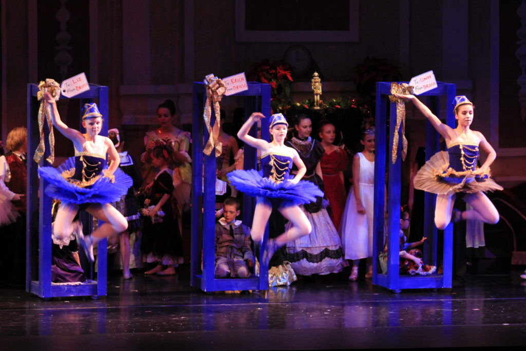 Soldier Dolls jumping in 2015 RMDT Nutcracker performance