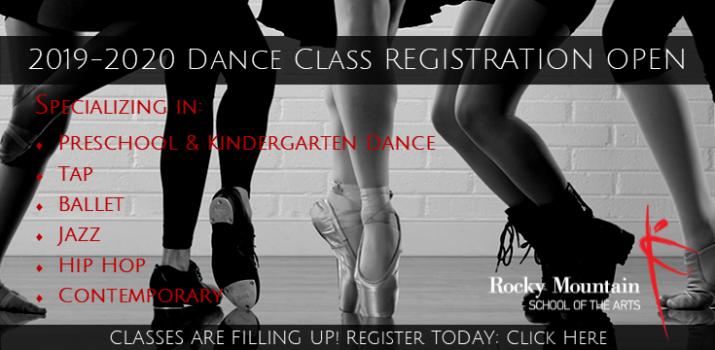 Registration open for tap, jazz, hip hop, ballet, contemporary, preschool, kindergarten