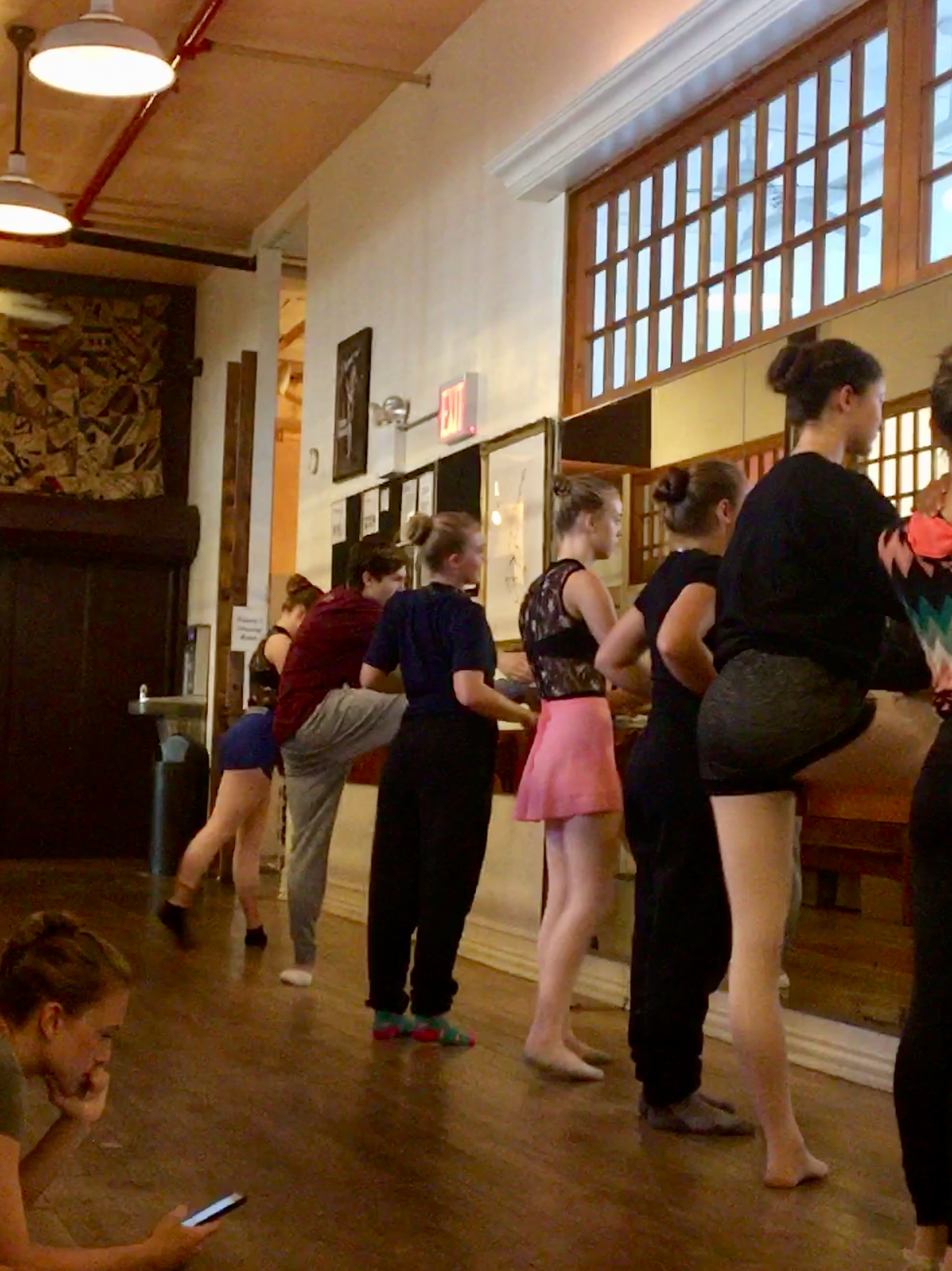 2018 RMDT New York Experience prepping for class @ Steps On Broadway