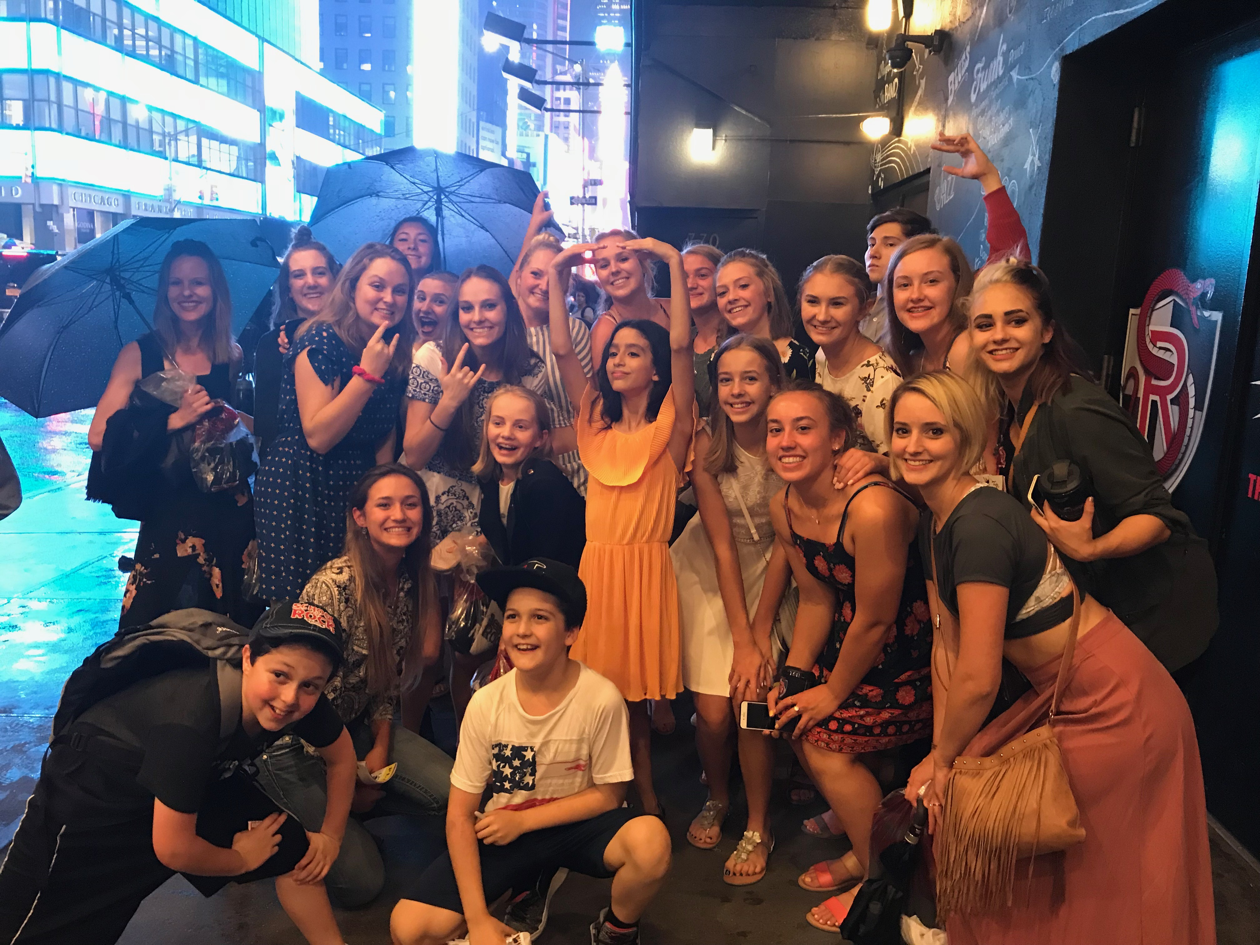 2018 RMDT New York Experience at School of Rock with Madison Lagares