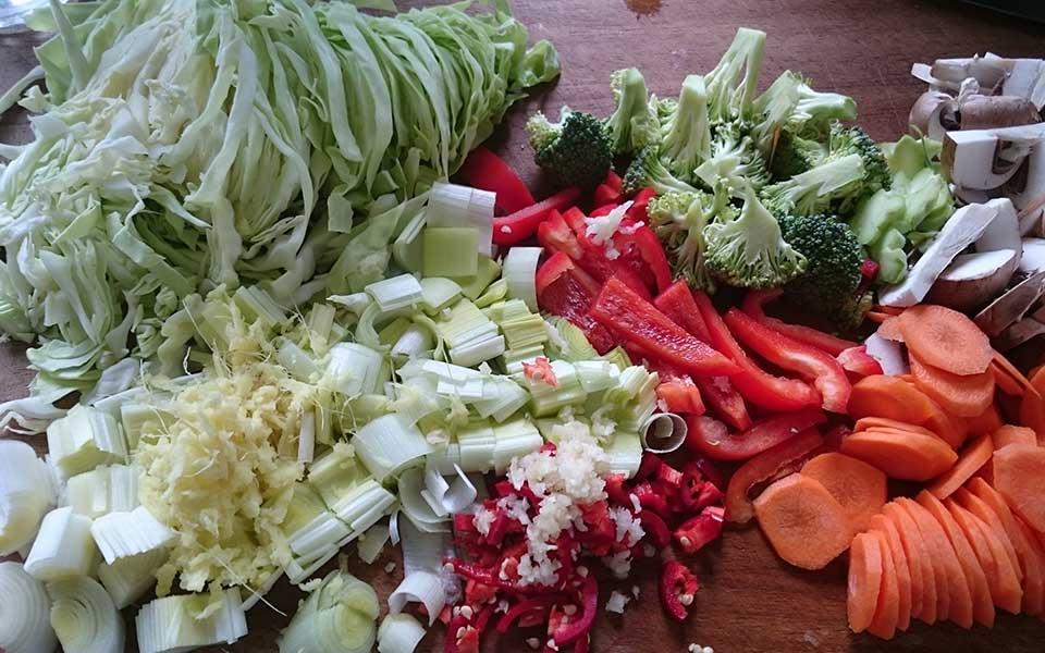 Easy Five Vegetable Stir-Fry