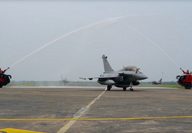 WATCH: 5 Rafale Fighter Jets Arrive In India Roaring In The Sky
