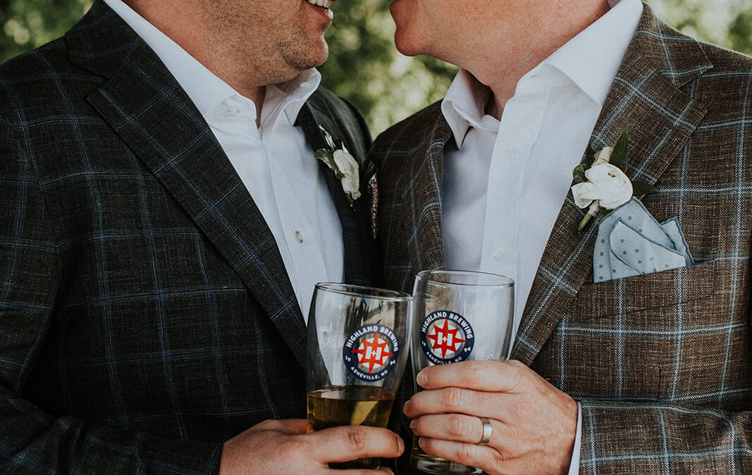 Christian & Jeff's Highland Brewing Wedding