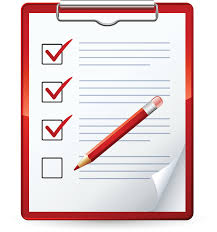 Image of a check list