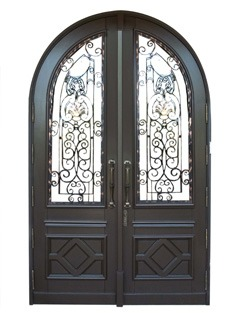 Bal Harbour Mahogany Grilled Doors