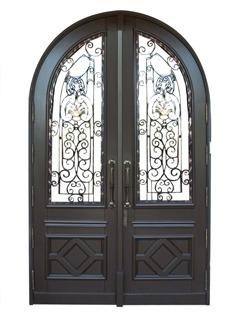 Bal Harbour Mahogany Grilled Doors
