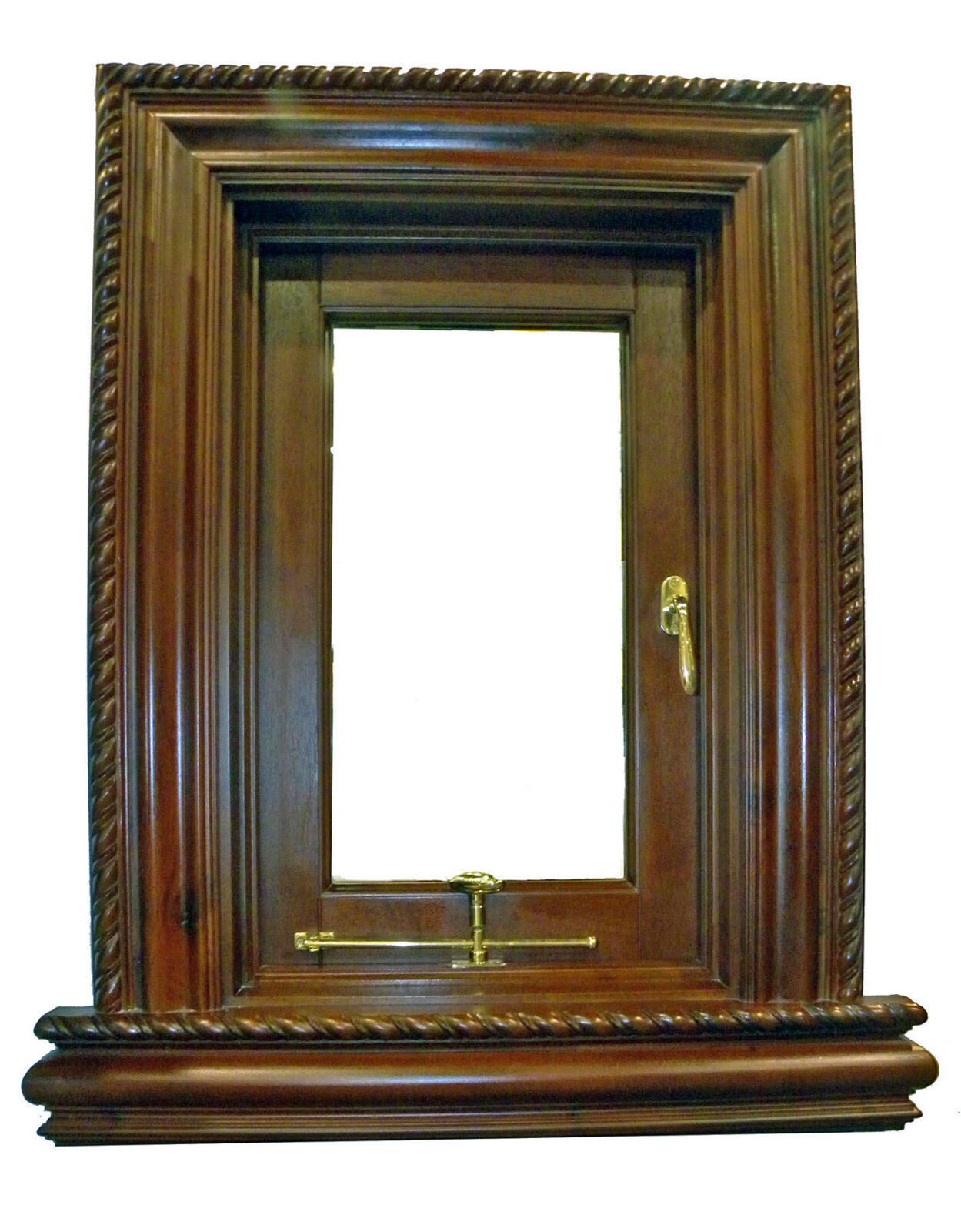 BOTICELLI MAHOGANY CARVED WINDOW