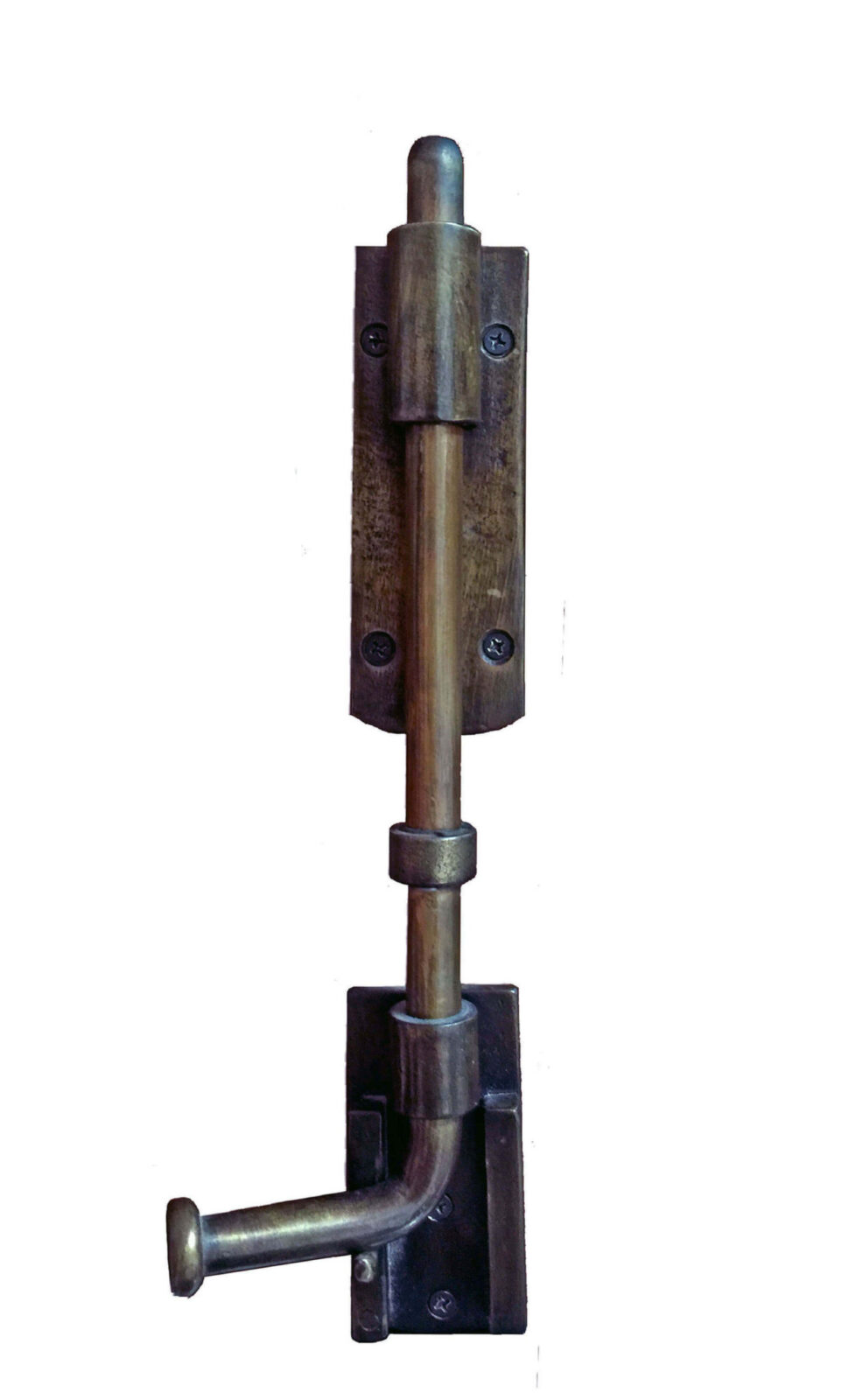 BRICKEL ANTIQUE BRASS SURFACE BOLT.