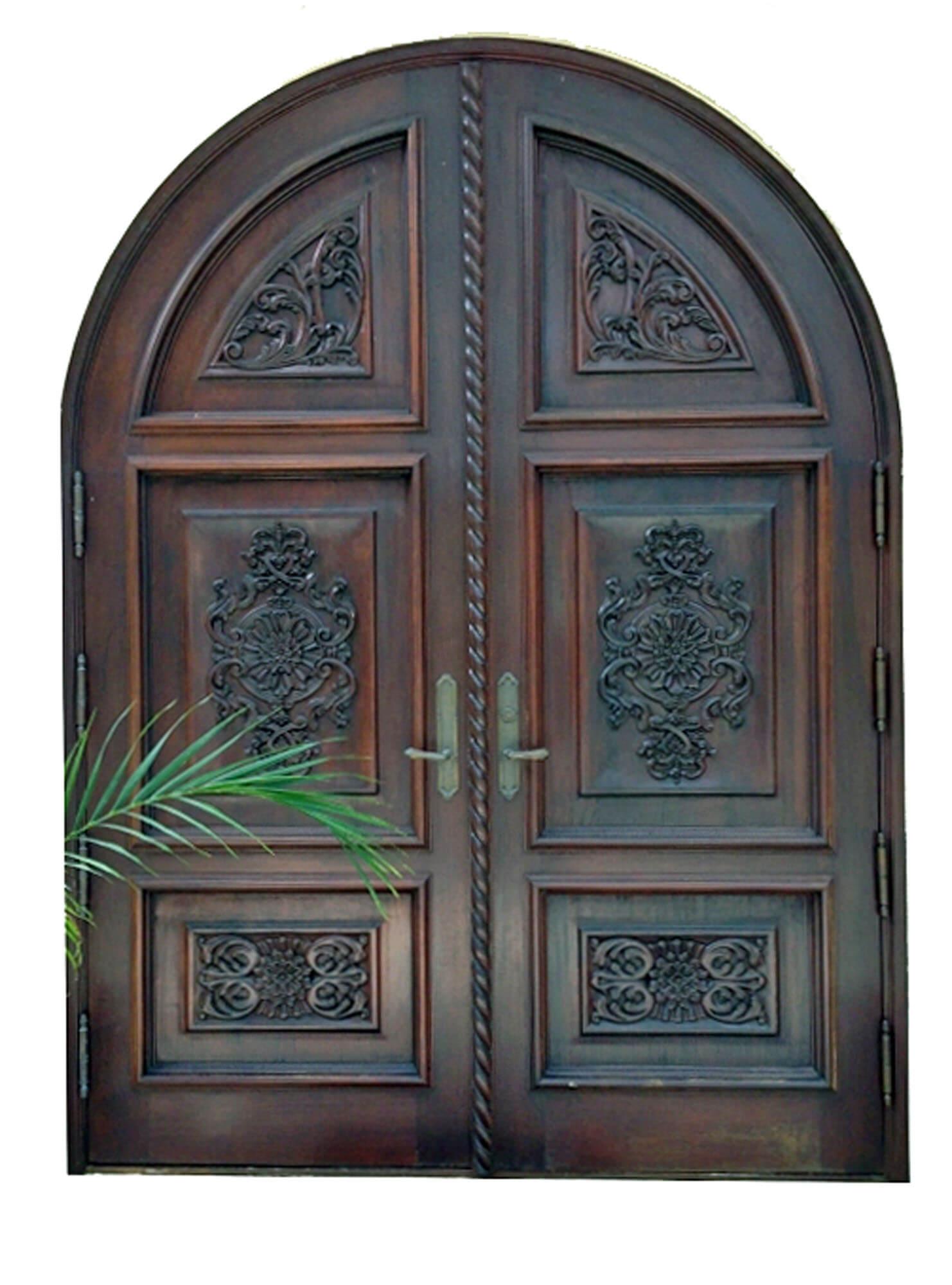Chorrillos Mahogany Carved Front Door
