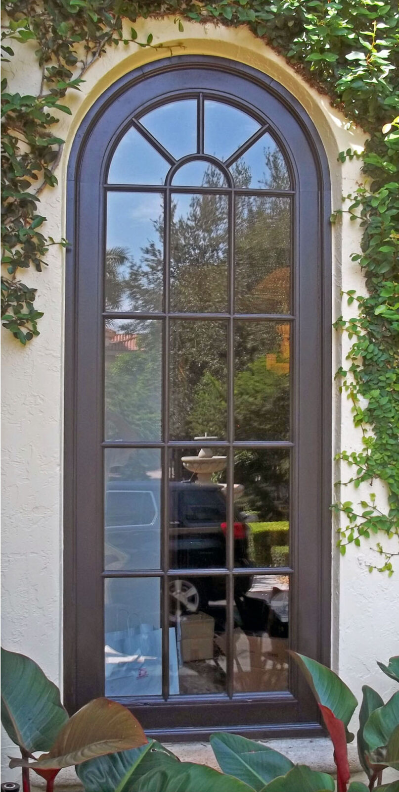 COCO PLUM MAHOGANY FIXED WINDOW.