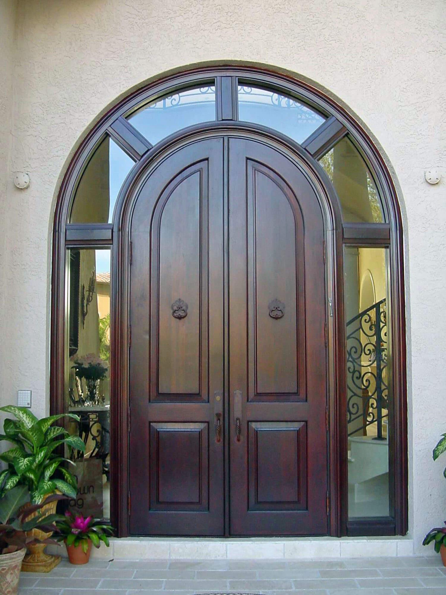 FRT. LAUDERDALE IMPACT MAHOGANY DOORS.