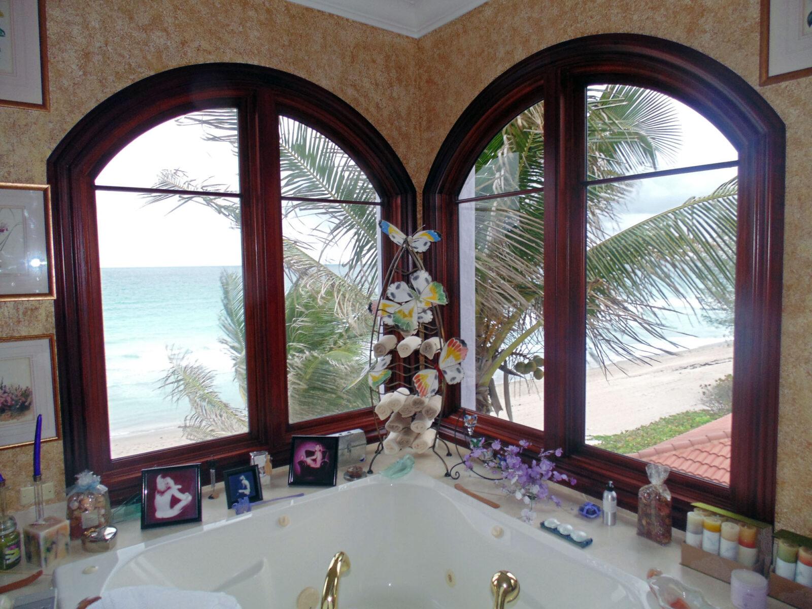 HIGHLAND BEACH MAHOGANY BATHROOM WINDOWS