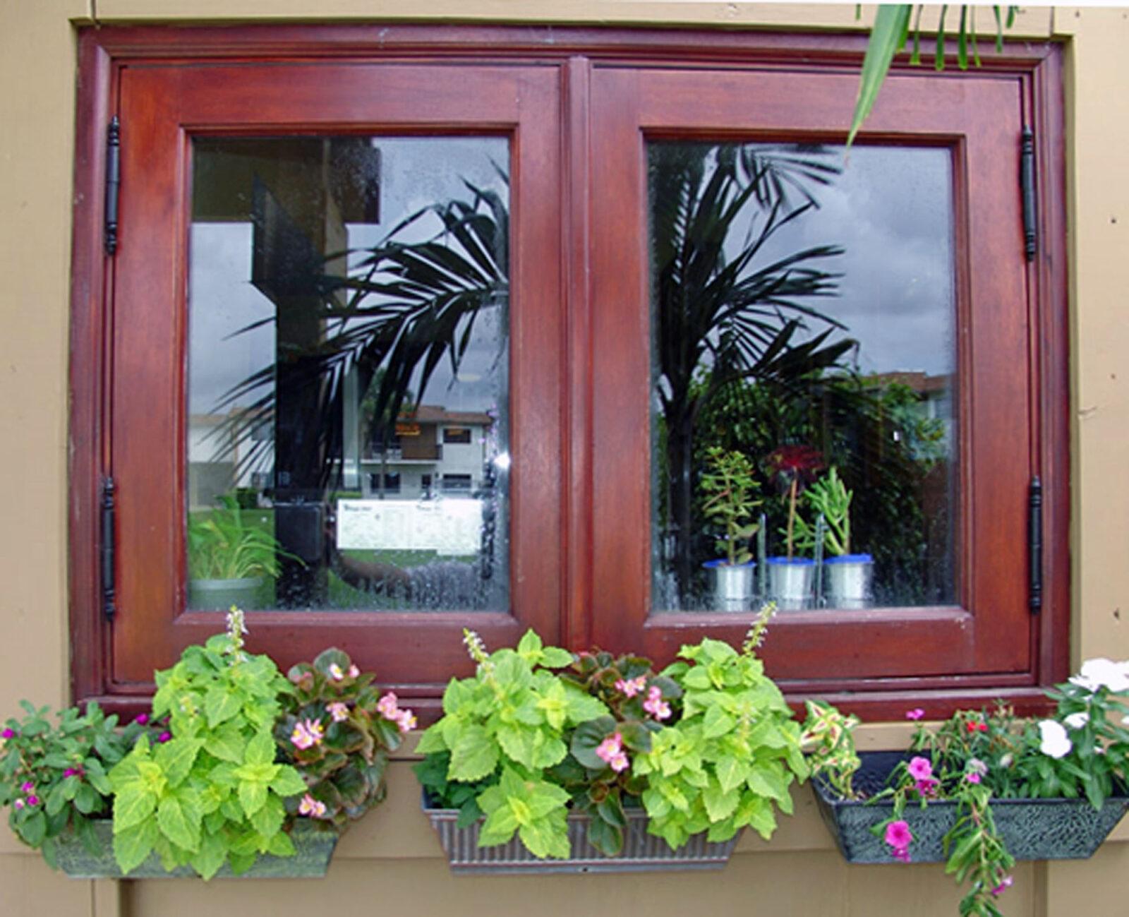 LAKE HOUSE MAHOGANY WINDOW
