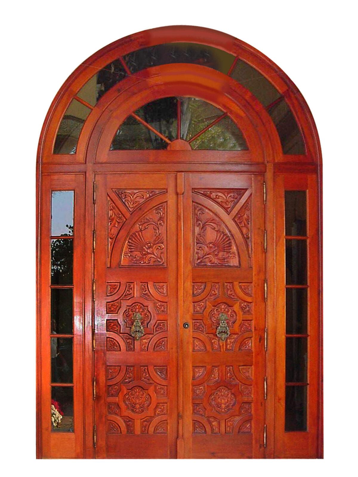 Lantana Mahogany Carved Door
