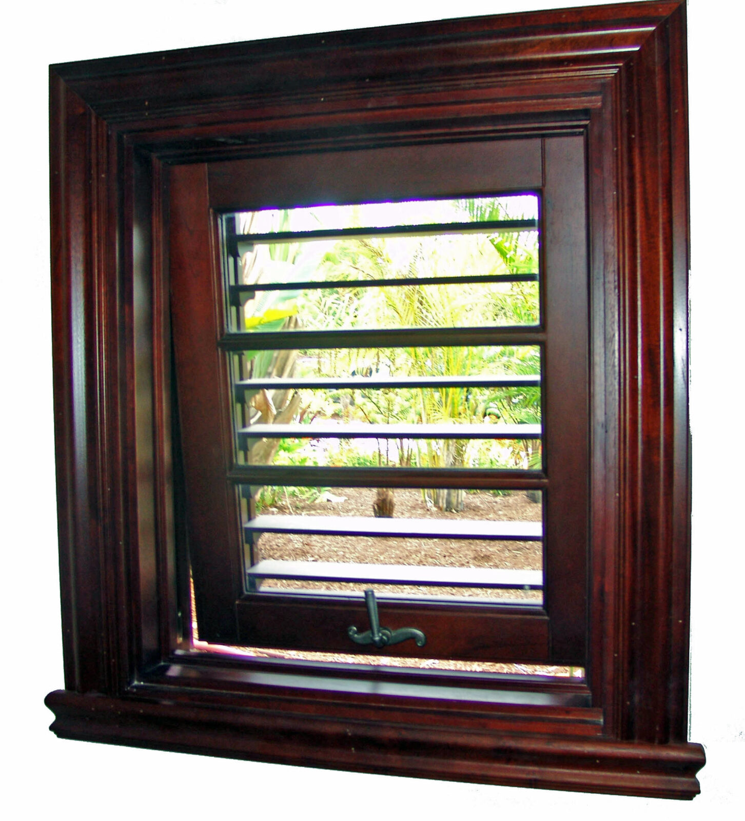MARTINIQUE MAHOGANY OUT SWING WINDOWS