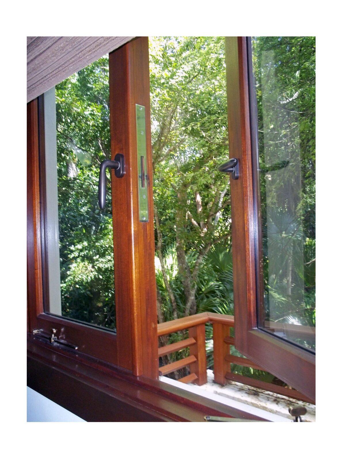 TAHITI BEACH MAHOGANY CASEMENT WINDOWS