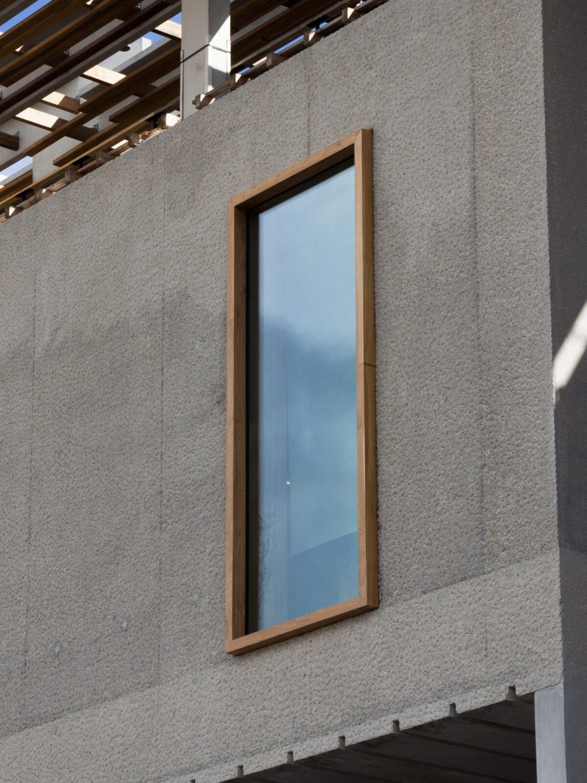 TEAK FIXED WINDOW