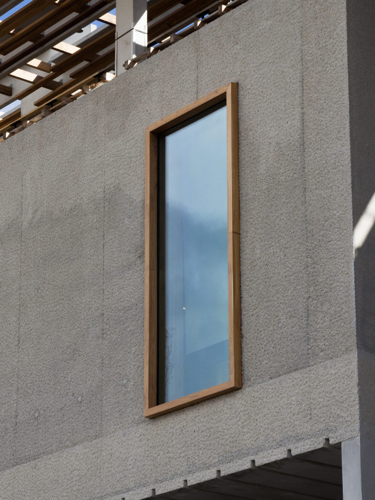 TEAK FIXED WINDOW