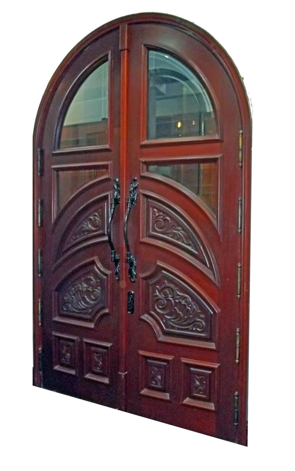 PENSACOLA MAHOGANY ENTRANCE CARVED DOORS.
