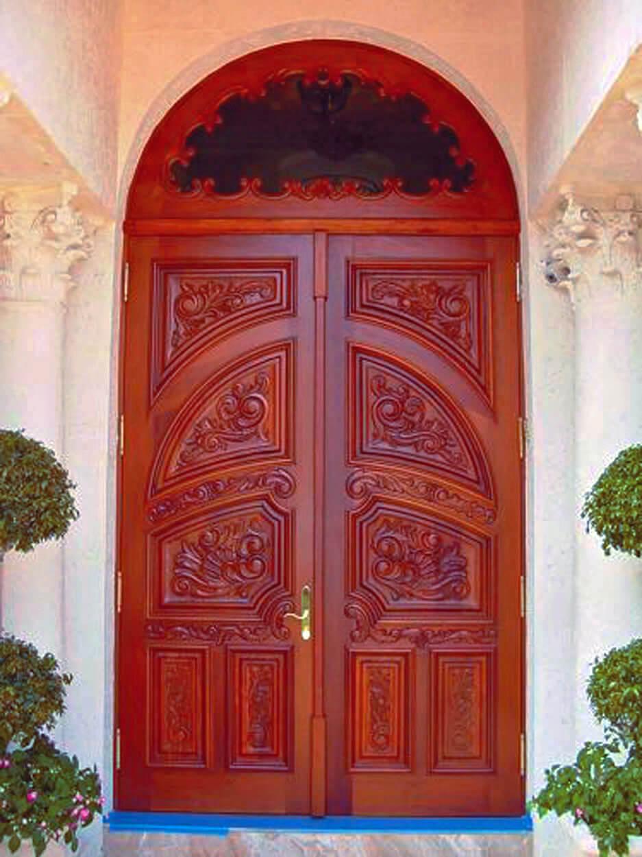 WESTON MAHOGANY CARVED DOORS