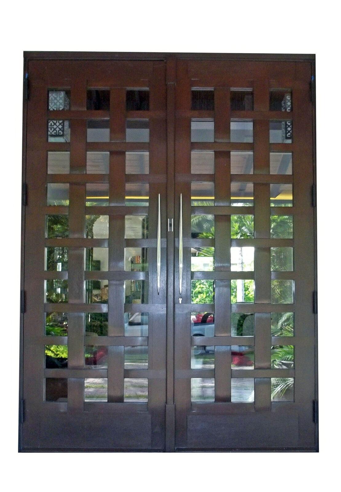 Fishermans Net Mahogany Doors