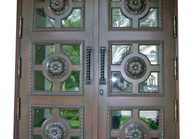 FRT. MYERS MAHOGANY CARVED DOOR.