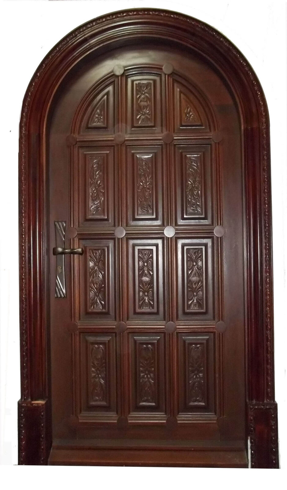 GARDEN CITY MAHOGANY CARVED DOORS.