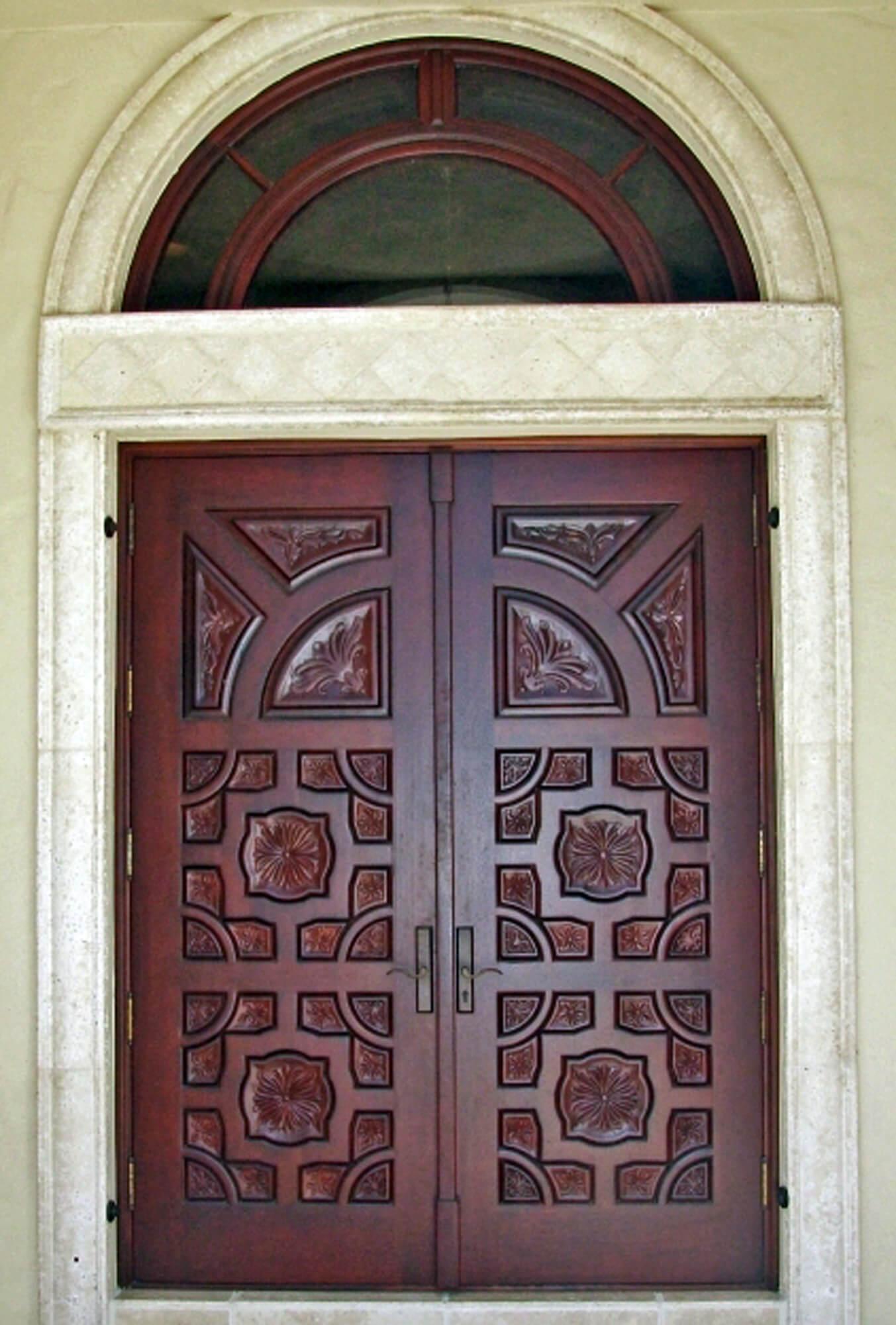 GRANADA MAHOGANY CARVED DOOR.