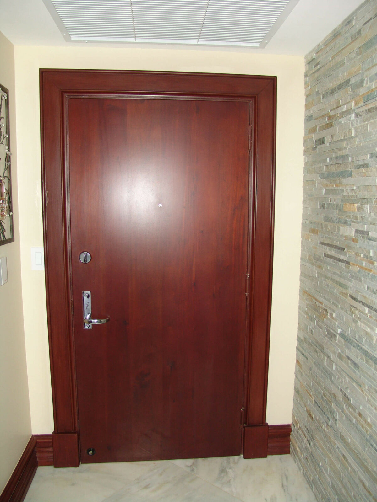 Hallandale Beach Mahogany Flush Entrance Door