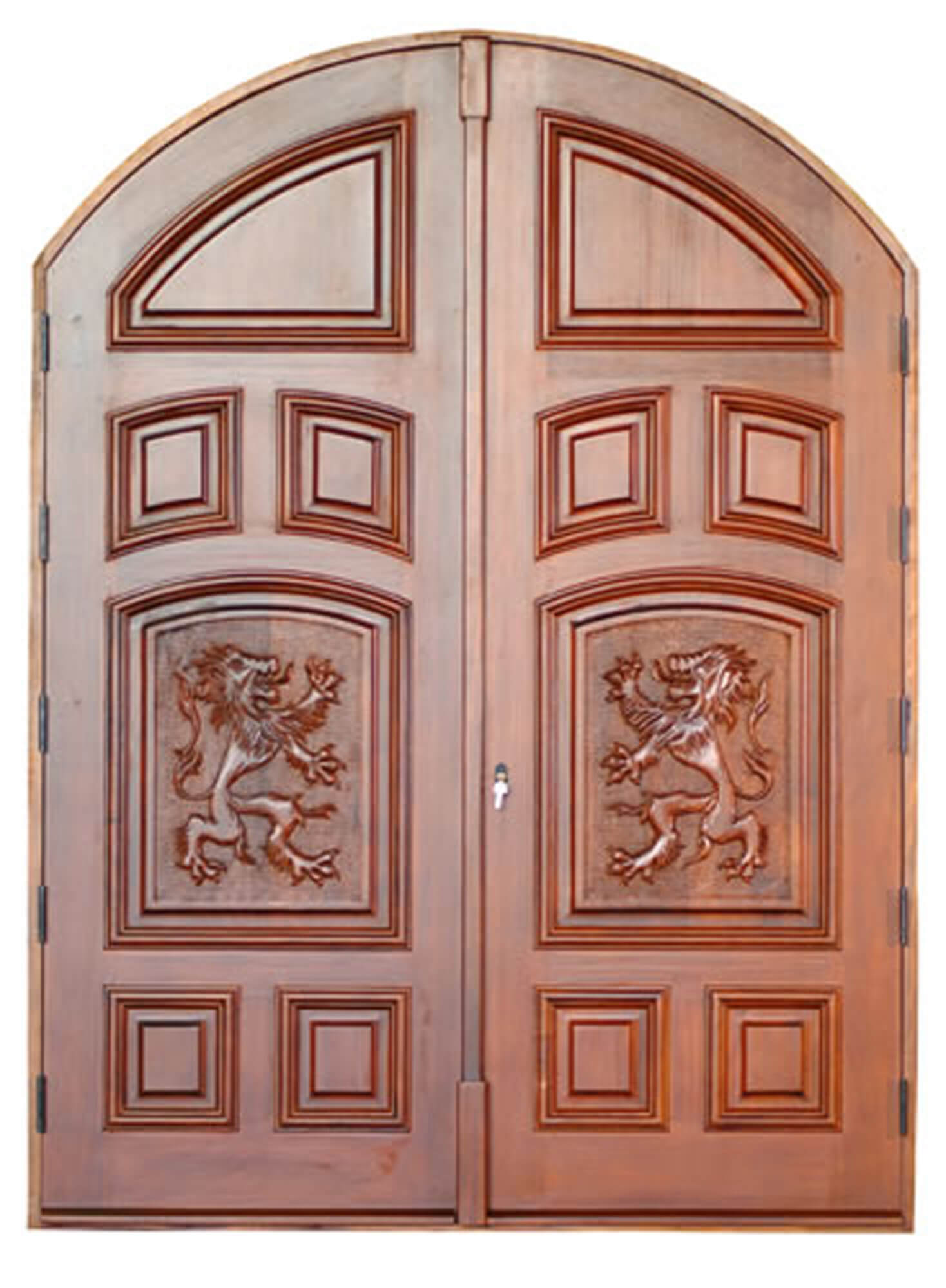 INDIAN CREEK VILLAGE. MAHOGANY CARVED DOORS.